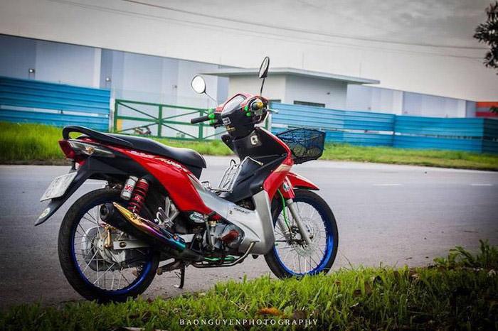 Chiếc wave s 110 được độ theo phong cách Thái của bạn biker miền Nam