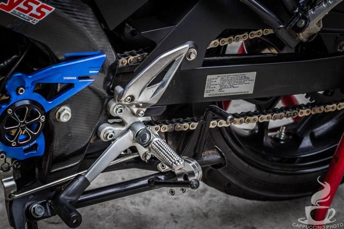 Bộ số gãy trang bị trên chiếc Fz150i độ này được lấy cảm hứng từ mẫu xe M-Slaz của Yamaha
