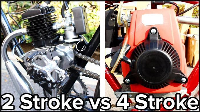 Có hai loại stroke gồm 2 stroke và 4 stroke