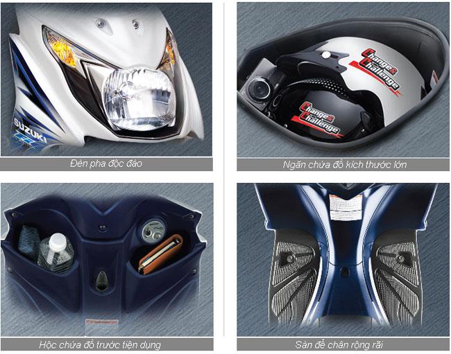 Đánh giá sơ qua về một số trang bị của suzuki hayate 125