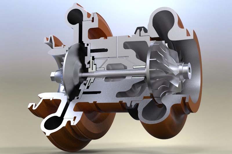 Cấu tạo bên trong của turbo tăng áp