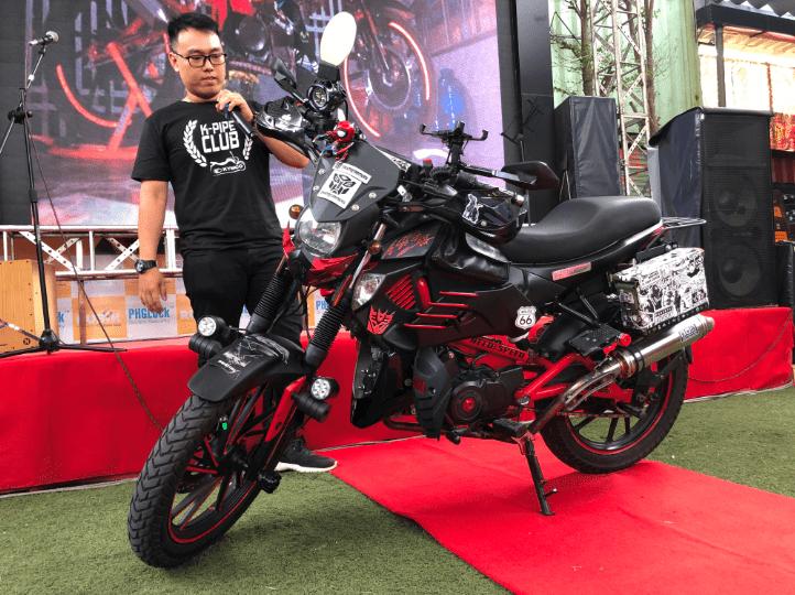 Tạo sự phá cách trong phong cách độ, biker đã cho ra đời một bản Kymco K-pipe 125 độ rất ấn tượng và cầu kỳ