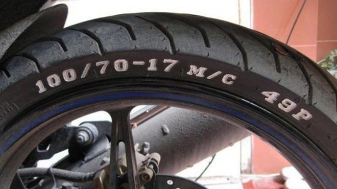 Thông số lốp xe máy theo độ bẹt